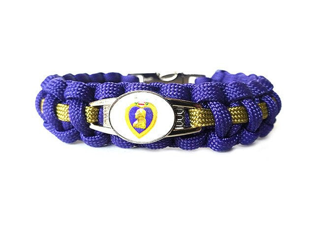 Purple Heart Paracord Bracelet
