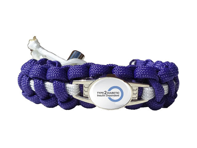 Medical ID Type 2 Diabetic Insulin Dependent Paracord Bracelet