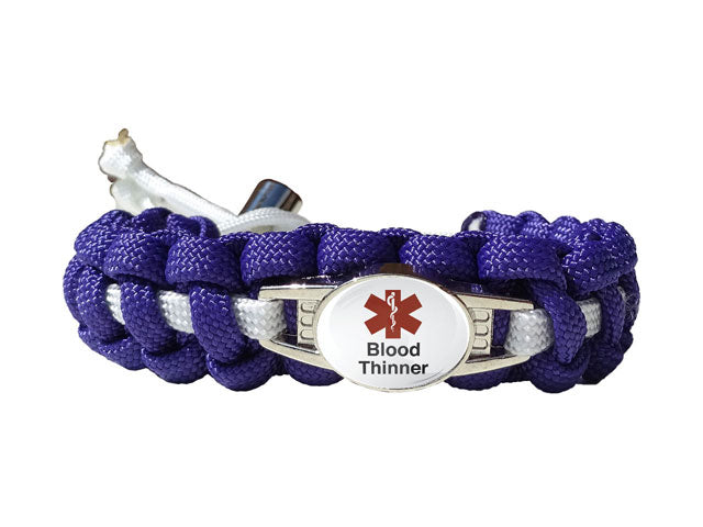 Medical Id Blood Thinner Paracord Bracelet Handmade By