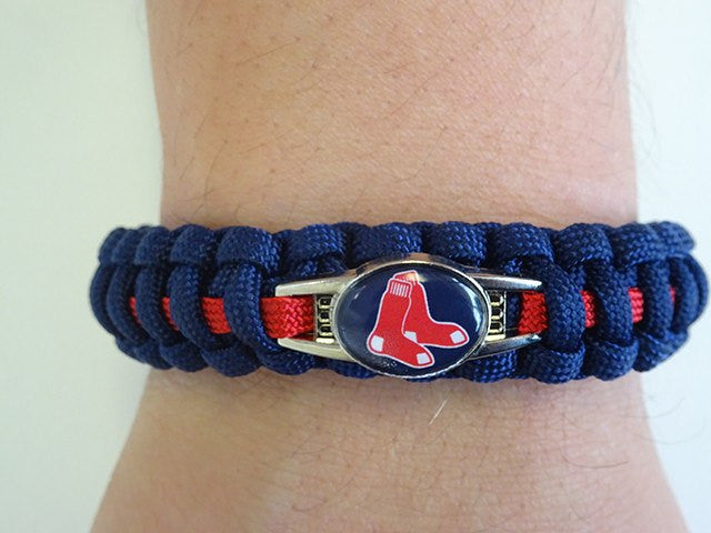 Officially Licensed MLB Boston Red Sox Paracord Bracelet