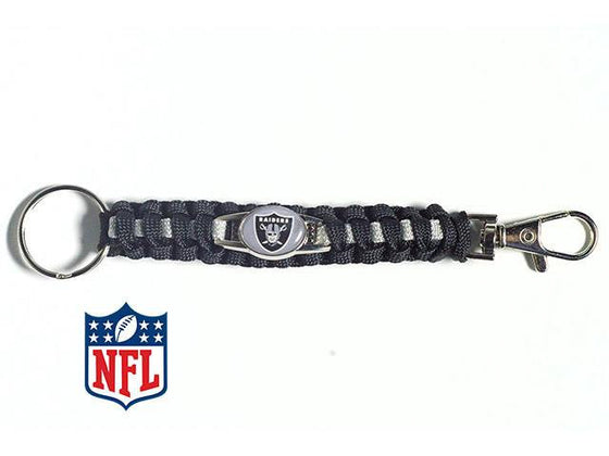 Officially Licensed Oakland Raiders NFL Paracord Keychain
