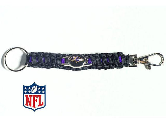 Officially Licensed Baltimore Ravens NFL Paracord Keychain