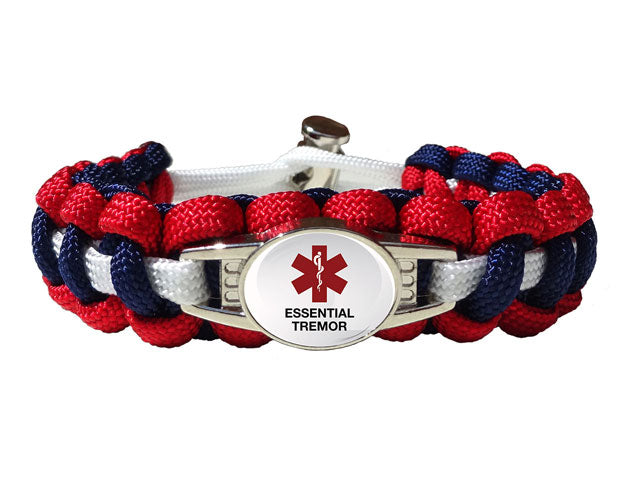 Medical ID Essential Tremor Paracord Bracelet