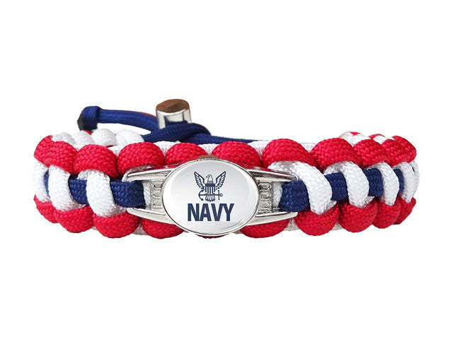 Navy Paracord Survival Bracelet