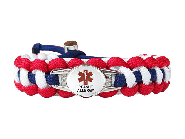 Medical ID Peanut Allergy Paracord Bracelet