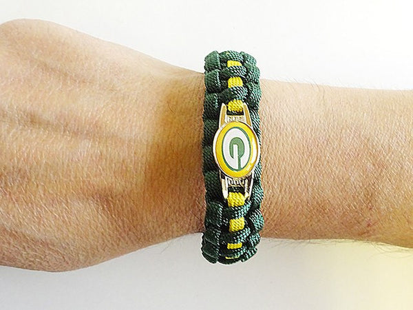 handmade by heros green bay packers paracord bracelet handmade by us 4856