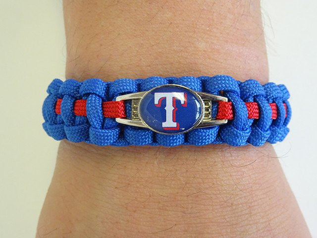Officially Licensed MLB Texas Rangers Paracord Bracelet