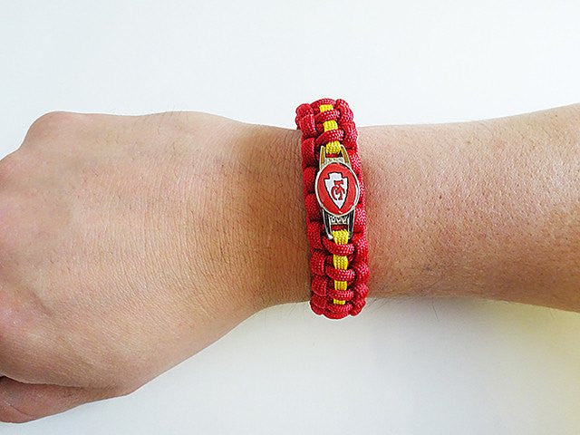 Officially Licensed NFL Kansas City Chiefs Paracord Bracelet