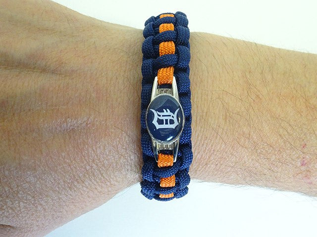Officially Licensed MLB Detroit Tigers Paracord Bracelet