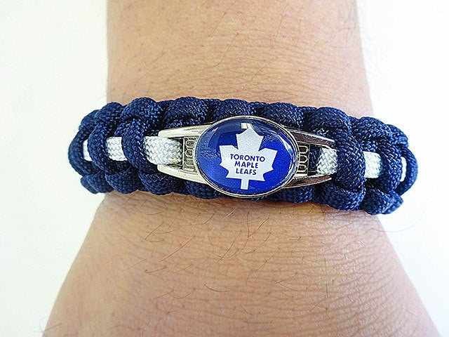 Officially Licensed NHL Toronto Maple Leafs Paracord Bracelet