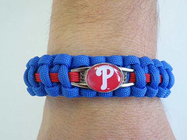 Officially Licensed MLB Philadelphia Phillies Paracord Bracelet
