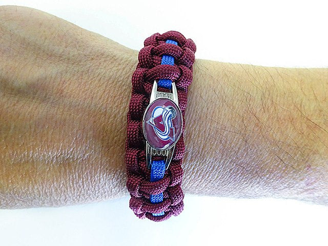 Officially Licensed NHL Colorado Avalanche Paracord Bracelet