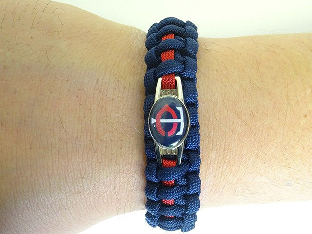Officially Licensed MLB Minnesota Twins Paracord Bracelet