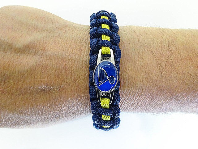 Officially Licensed NHL St. Louis Blues Paracord Bracelet