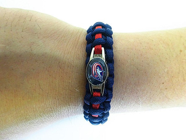 Officially Licensed NHL Columbus Bluejackets Paracord Bracelet