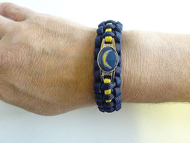 Officially Licensed NFL San Diego Chargers Paracord Bracelet