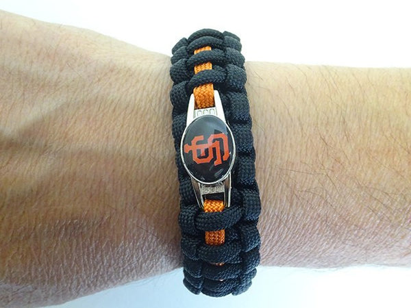 San Francisco Giants Paracord Bracelet Handmade By Us