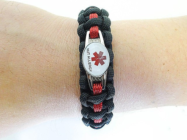 Medical ID Nut Allergy Paracord Bracelet