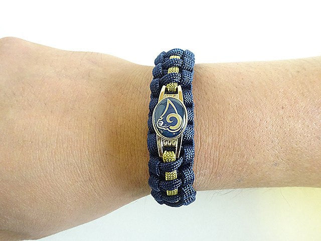 ... Officially Licensed NFL Los Angeles Rams Paracord Bracelet ... 7fc54d452