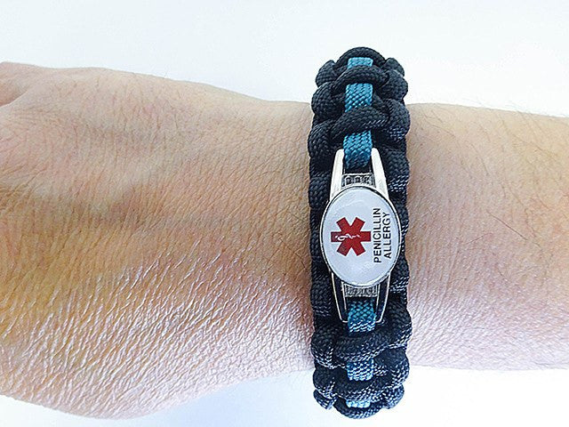Medical ID Penicillin Allergy Paracord Bracelet