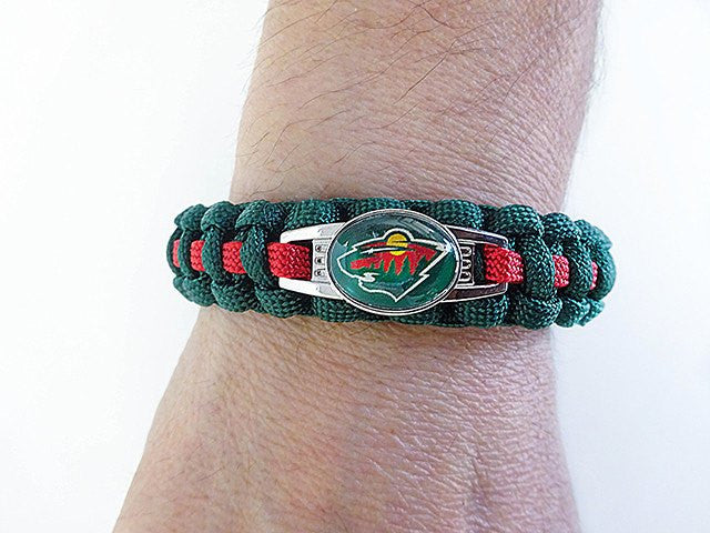 Officially Licensed NHL Minnesota Wild Paracord Bracelet