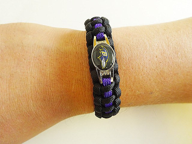 Officially Licensed NFL Baltimore Ravens Paracord Bracelet
