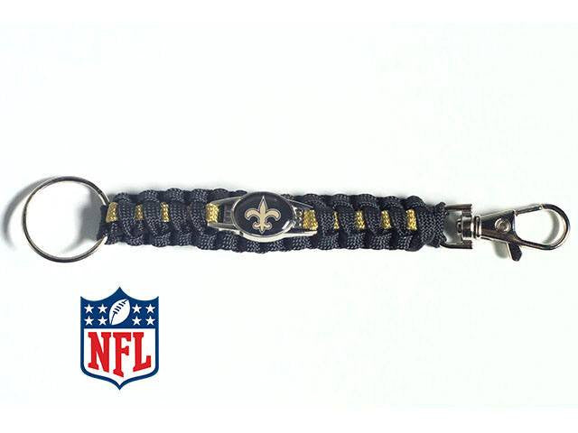 Officially Licensed New Orleans Saints NFL Paracord Keychain