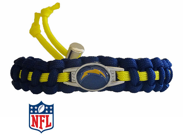 Officially Licensed NFL Los Angeles Chargers Paracord Bracelet