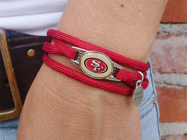 San Francisco 49ers Officially Licensed Designer Wrap Bracelet
