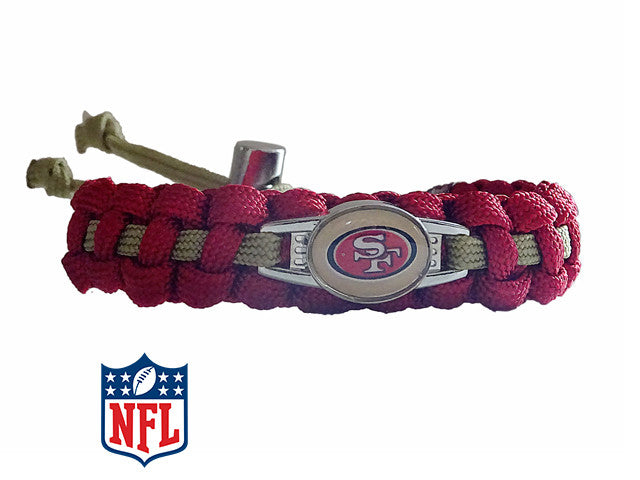 Officially Licensed NFL San Francisco 49ers Paracord Bracelet