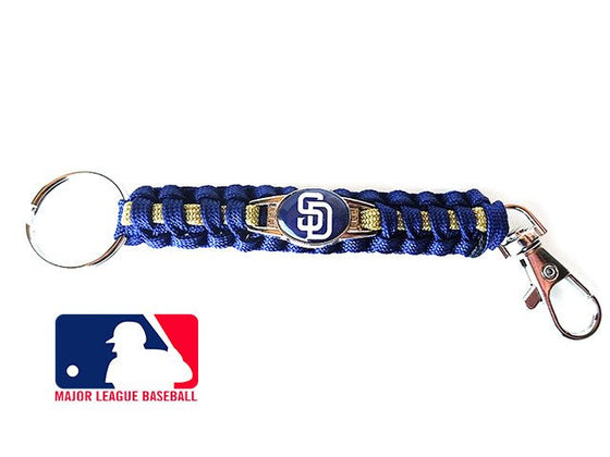 Officially Licensed MLB San Diego Padres Paracord Keychain