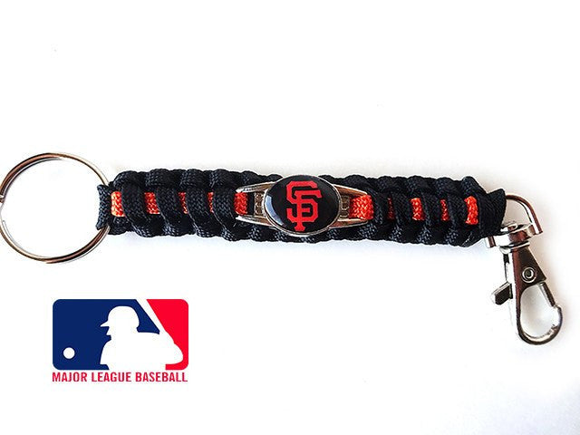 Offically Licensed MLB San Francisco Giants Paracord Keychain