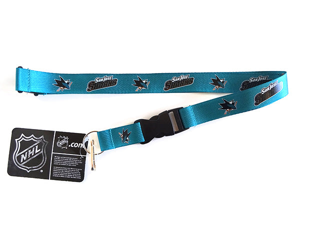 Officially Licensed NHL San Jose Sharks Lanyard with Paracord Badge Reel Attachment