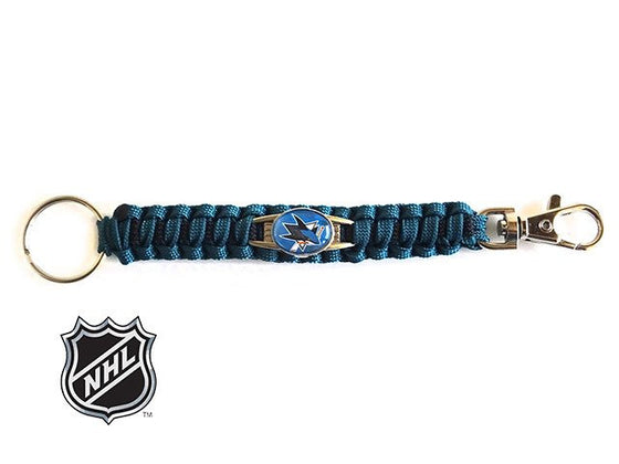Officially Licensed NHL San Jose Sharks Paracord Keychain
