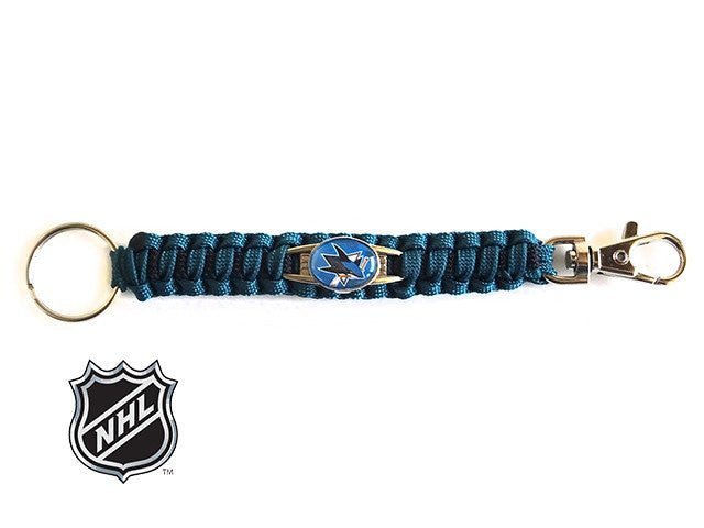 Offically Licensed NHL San Jose Sharks Paracord Keychain