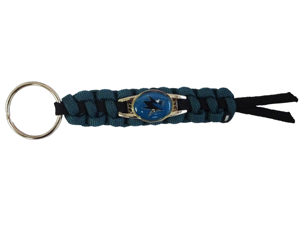Officially Licensed San Jose Sharks NHL Paracord Mini Keychain