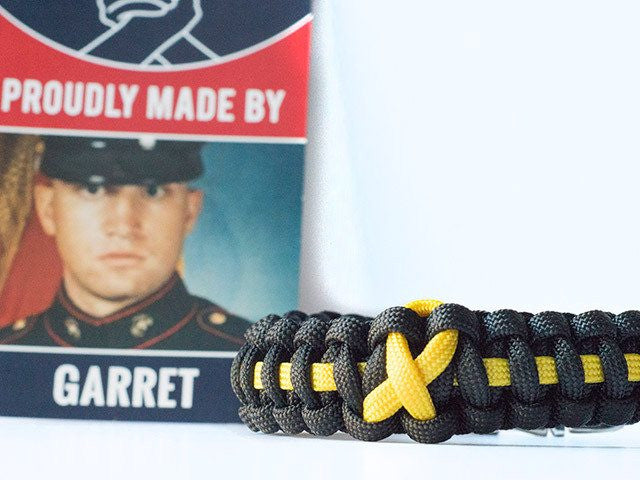 Sarcoma/Bone Cancer Awareness Paracord Bracelet