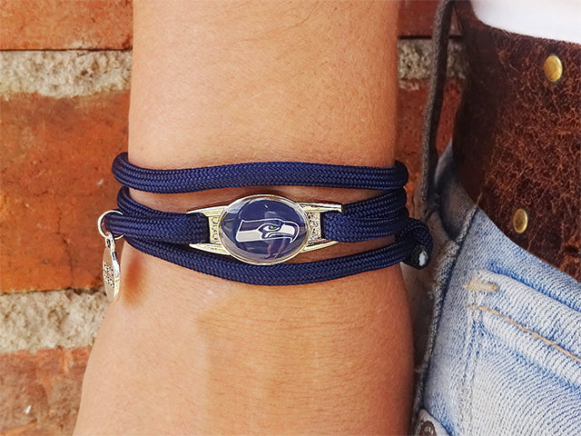 Seattle Seahawks Officially Licensed Designer Wrap Bracelet