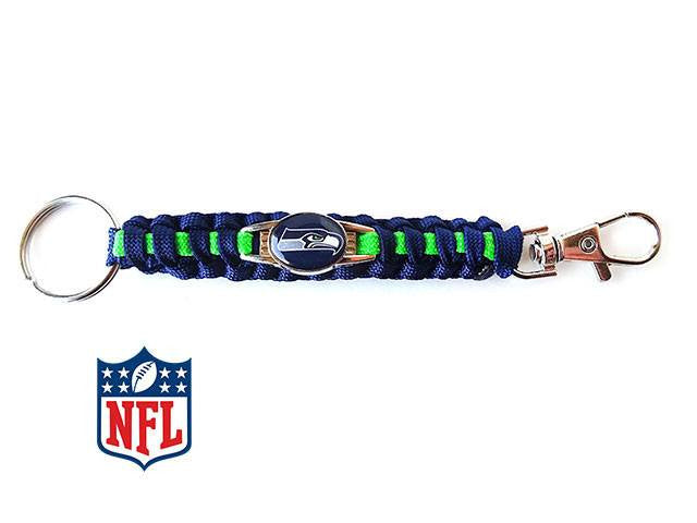 Officially Licensed Seattle Seahawks NFL Paracord Keychain