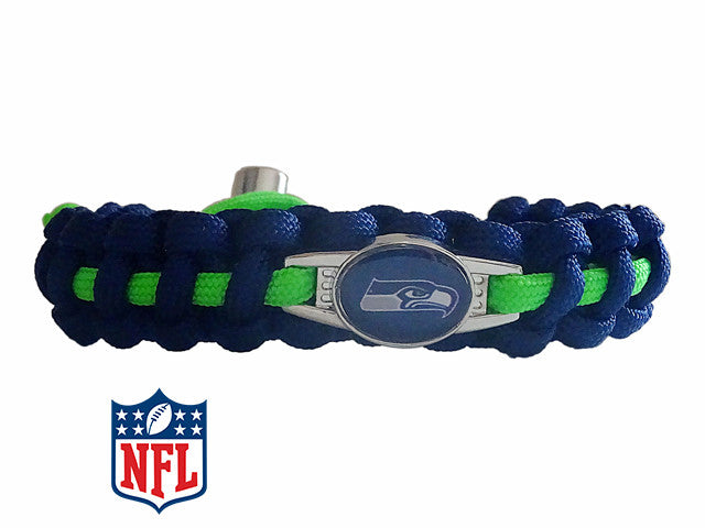Officially Licensed NFL Seattle Seahawks Paracord Bracelet
