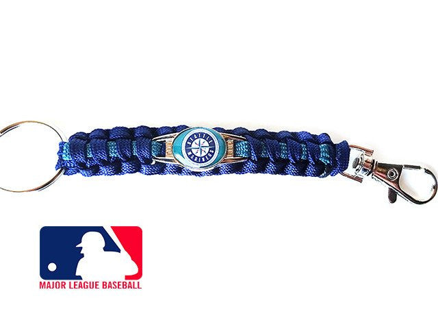 Offically Licensed MLB Seattle Mariners Paracord Key Fob