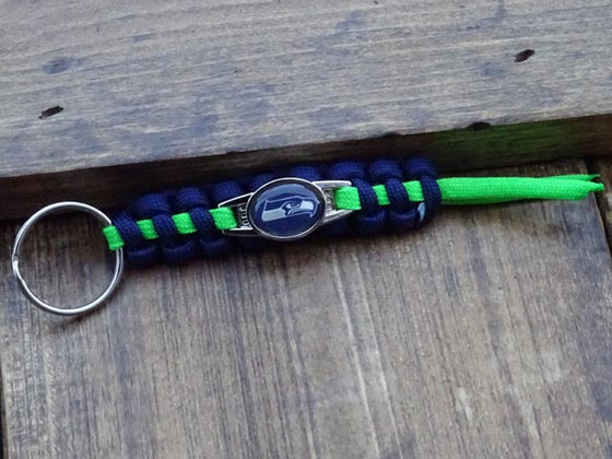 Officially Licensed Seattle Seahawks NFL Paracord Mini Keychain