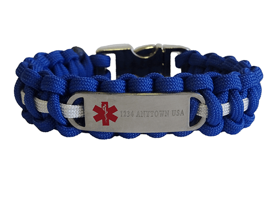 Custom Engraved Medical ID Bracelet - Single Line