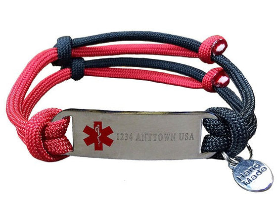 "Customizable ""Alert Your Medicool"" Bracelet - Single Line"