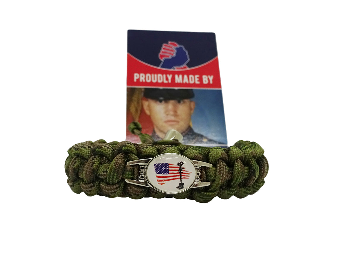 Soldiers Cross Paracord Bracelet