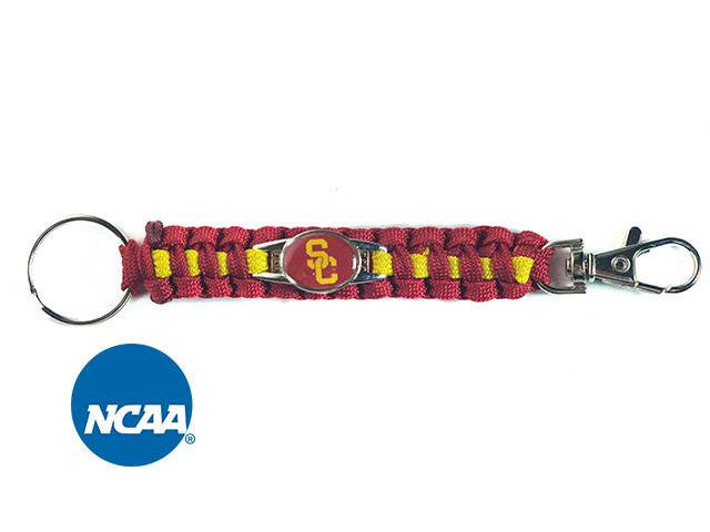 Officially Licensed USC Trojans Paracord Keychain