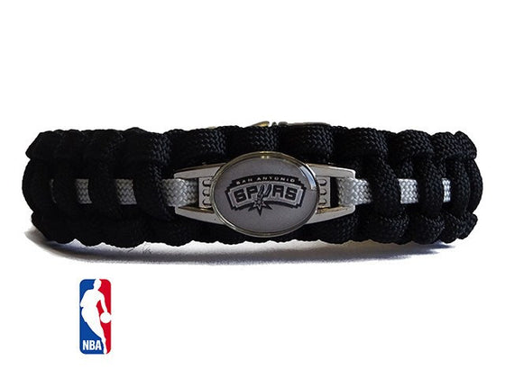 Officially Licensed NBA San Antonio Spurs Paracord Bracelet