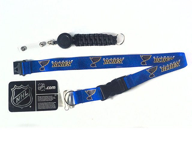 Officially Licensed NHL St Louis Blues Lanyard with Paracord Badge Reel Attachment