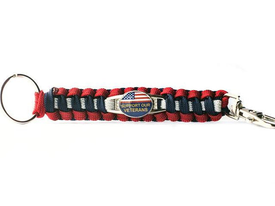 Support Our Veterans Paracord Key Chain