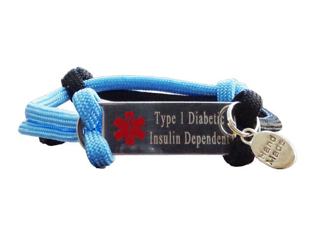 "Type 1 Diabetic Insulin Dependent ""Alert Your Medicool"" Alert Bracelet"